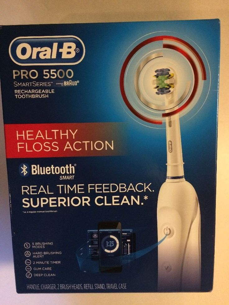 Braun Oral B Pro 5500 SmartSeries Rechargeable Toothbrush Healthy Floss Action