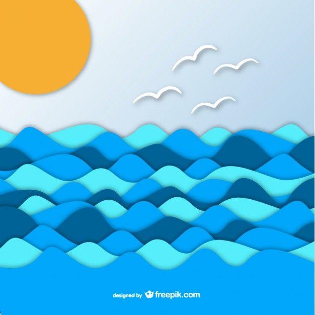 olas de mar vector png - Buscar con Google