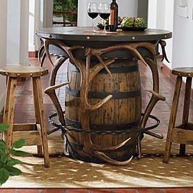 neat idea. Reminds me of a table you would see in Beauty and the Beast, in Gastons lodge/pub.