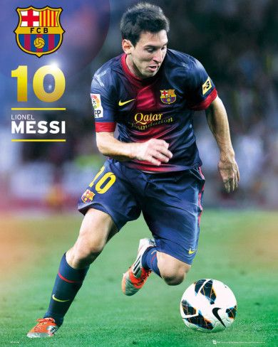 Barcelona Lionel Messi (number 10) 2012/13 Action Poster Mini Poster