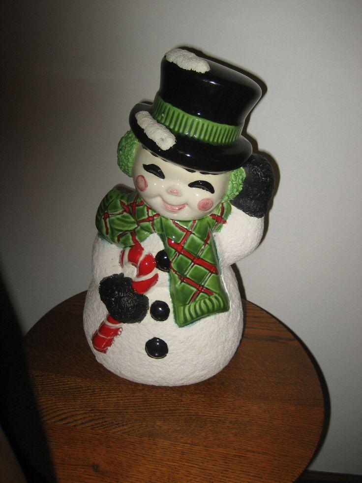 30 Best Vintage Snowman Images On Pinterest