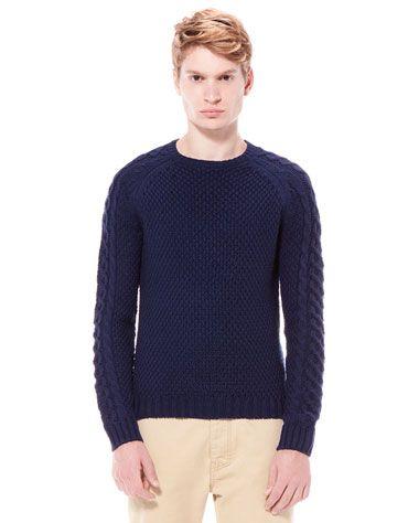 Bershka Italia - Maglione di lana con maniche con intrecci