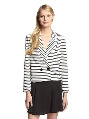 49% OFF WREN Women's Stripe Soft Blazer (Mixed Stripe)