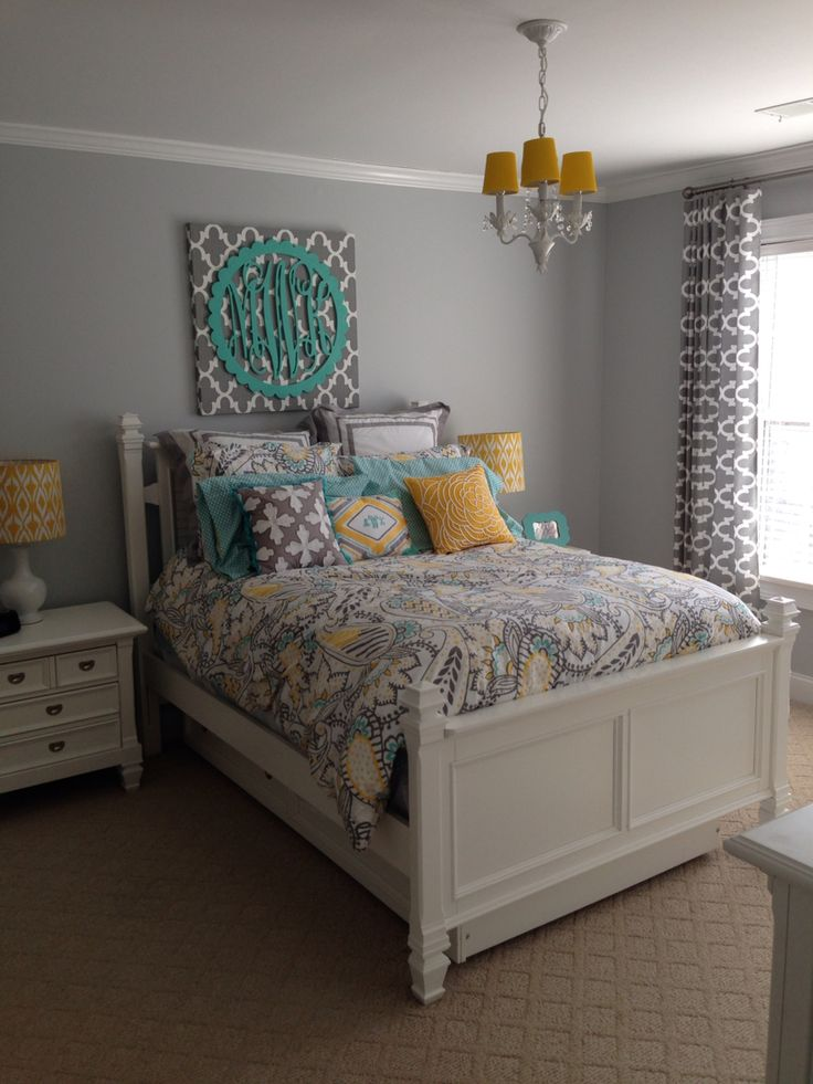 Ana Paisley Bedding from PBteen. Lamps from Target. Custom ...