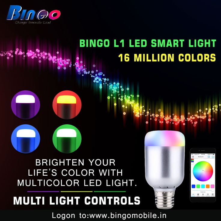 #Bingo #L1 Getting bored with general light...! Now make your mood by multicolored LED Light. By just one click change your light's color and brighten up your day.... For more information, Visit: http://bit.ly/2d7uxLh