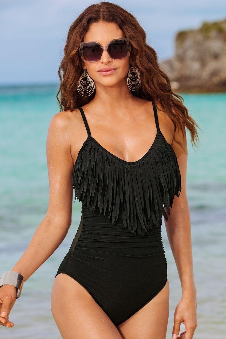 Blaire fringe one-piece swimsuit