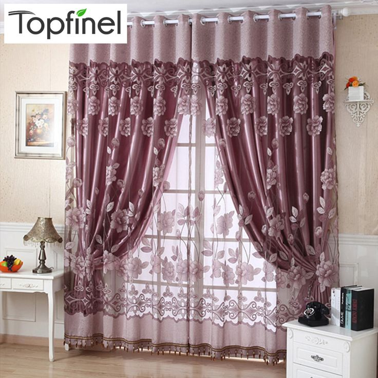 luxury jacquard shade tulle for window sheer curtains for living room the bedroom kitchen blinds