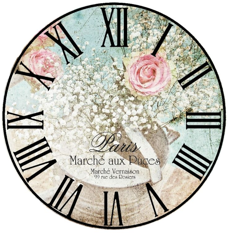 .Roman Numerals and flowers