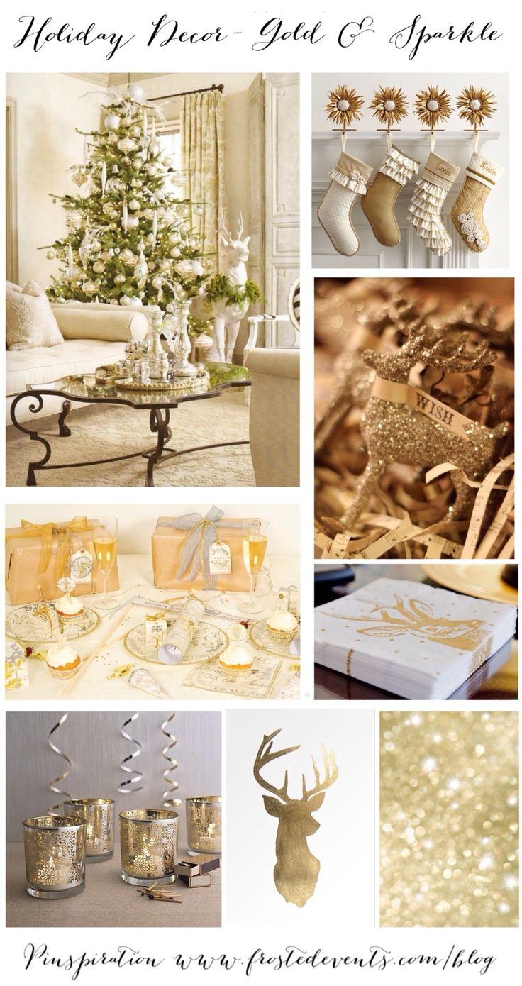 Holiday Decor - Gold & Sparkle Christmas  Christmas Inspiration