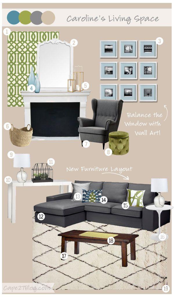 Cape 27 Custom Mood Boards: Caroline's Living Space