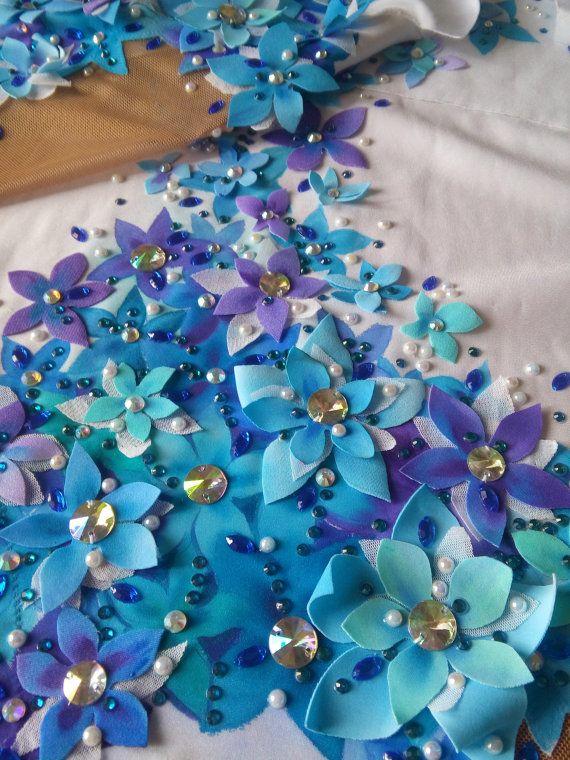 Pandora flowers leotard for rhythmic от alwaysagoodprice на Etsy