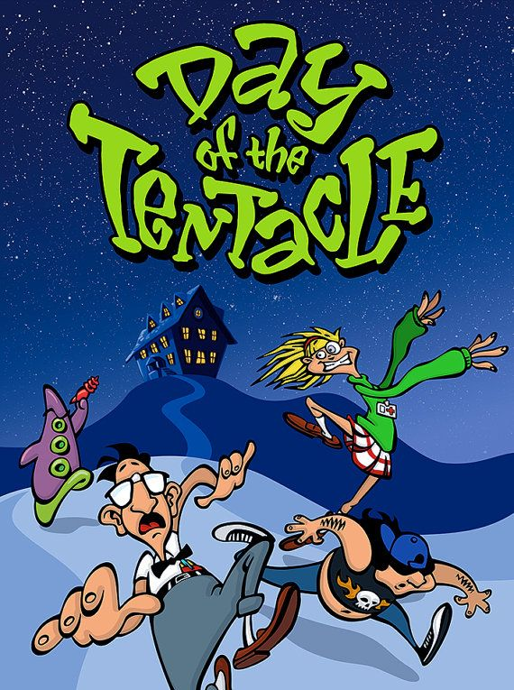 Maniac Mansion: Day of the Tentacle Video Game Poster by Nerdemia