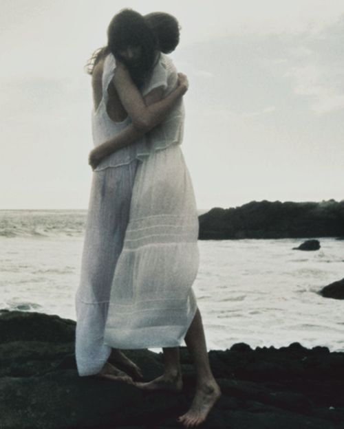 photography, ocean, sadness, moment, beautiful wispy dresses, grey, moody.