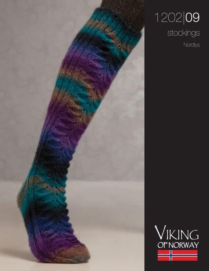 Knitting Fever Patterns : Nordlys stockings knitting fever free