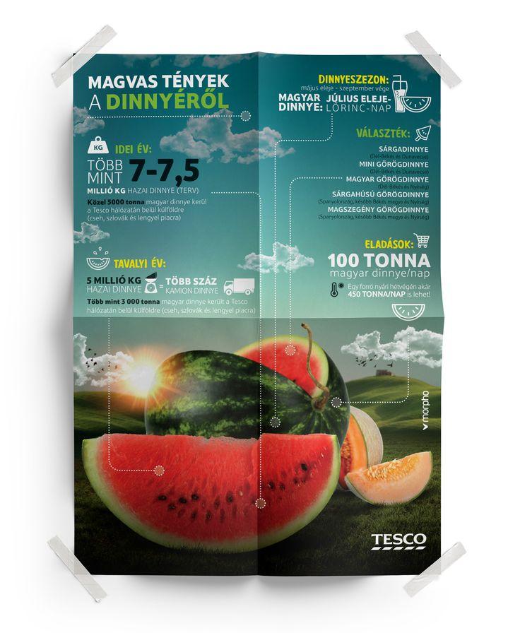 Tesco - Melon infographics
