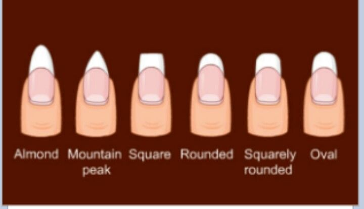 Always almond or round nail shapes for me! I think they're ...