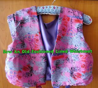 A Pretty Talent Blog: Sewing A Skirt & Vest The Old-Fashioned Way Part 2