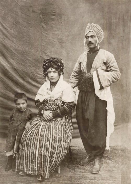 Iran 1930? Mohammed Amini with his wife,Shkofa and their child, Mustafa