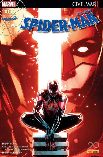 All-New Spider-Man nº11 (05 avril 2017) - Civil War II ! Spider-Man fait face au Chacal ainsi qu'à Clash. Quant à Spider-Man 2099, le retour à son époque n'est pas de tout repos… Enfin, nous retrouvons Miles Morales dans le premier épisode d'une nouvelle saga liée à Civil War II ! Par Slott, Silva, David, Sliney, Gage, Foreman, Bendis et Marquez. (Contient les épisodes US Amazing Spider-Man 18, Spider-Man 2099 15, Civil War II : Spider-Man 4, Spider-Man (2016) 6) #all #new #spiderman #panini
