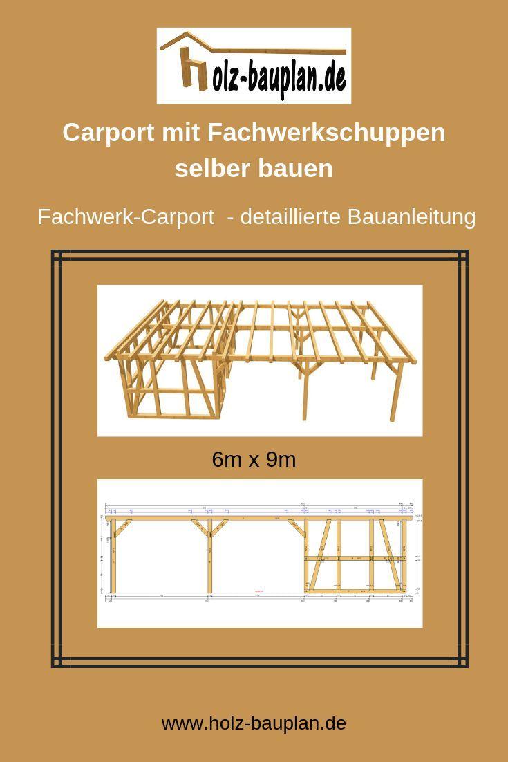 Bauzeichnung Carport Mit Schuppen Holzkonstruktion Carport Carport Gunstig Selber Bauen Carport Mit Schuppen Carport Schuppen Selber Bauen