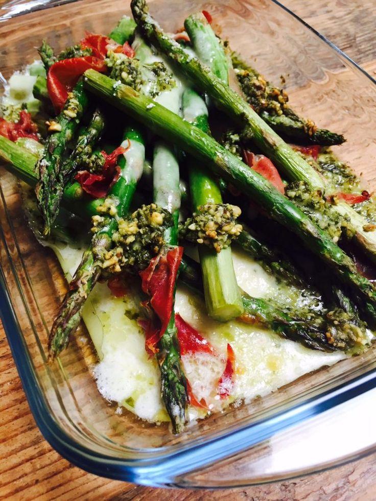 Snelle recepten Groene asperges met pesto ovenschotel recept foodblog Foodinista