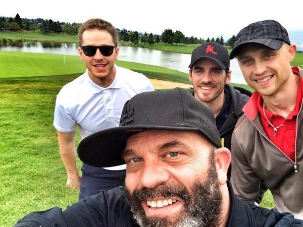Great selfie! :) Lee, Josh, & Colin playing golf. July 20, 2014. Via Lee Arenberg's twitter.
