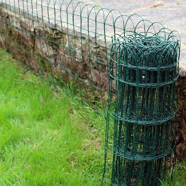Pvc Coated Border Fence For Concave Ground Garden Protect With