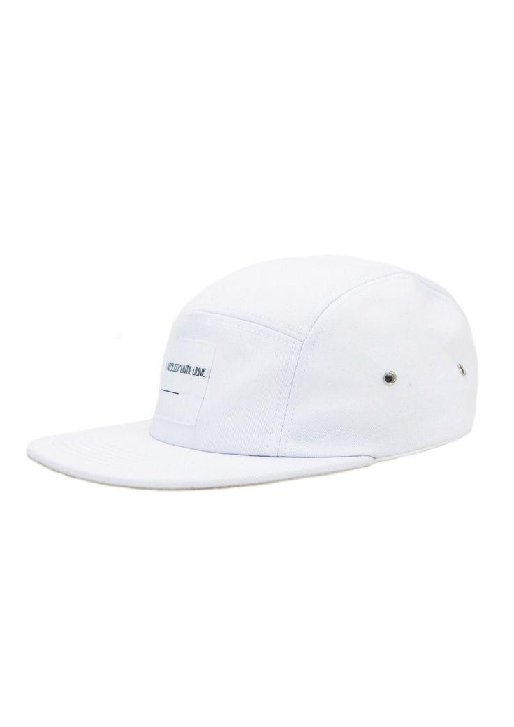 nosleepuntiljune - 5 panel caps in white organic cotton