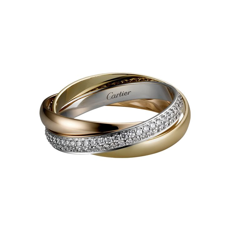 Trinity ring by Cartier. The classic symbol of everything love. Three colours of gold one for each level of a relationship: friendship, love and fidelity. Great everyday chic piece.