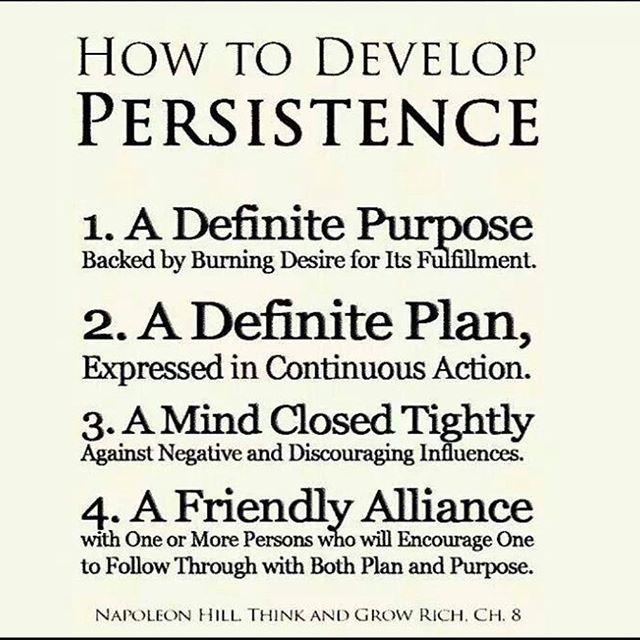 """""""Nothing in this world  can take the place of persistence. Talent will not ; nothing is more  common than unsuccessful people with talent. Genius will not; unrewarded  genuis is almost a proverb. Education will not; the world is full of  educated failures. Persistence and determination alone are omnipotent."""" -Calvin Coolidge  #persistence #perseverance #dedication #commitment #determination #positivevibes #positivity #success #foodforthought #wordsofwisdom"""