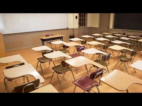 Teachers skip work to join 'Day Without a Woman' protest - YouTube
