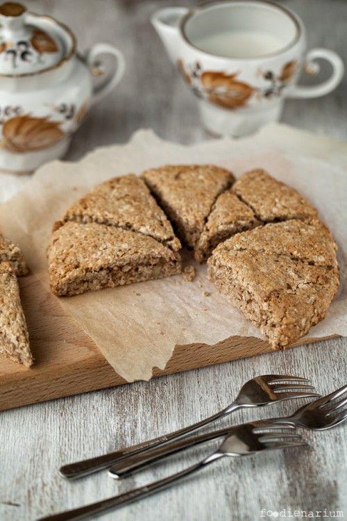 Breakfast Oat Scones With Walnuts Recipe | Foodienarium