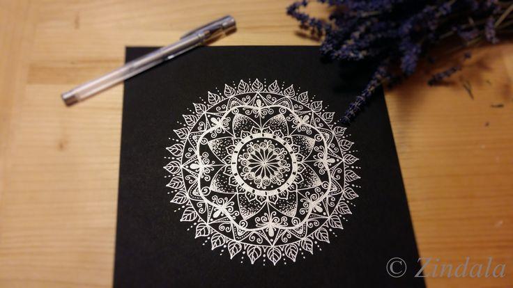 Zentangle mandala by Zindala