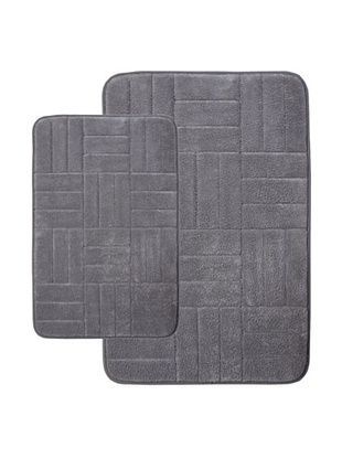 68% OFF Memory Foam Bath Mat, Grey