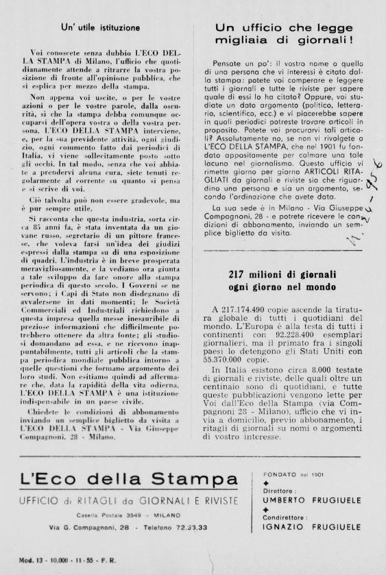 Pubblicità Storica del 1920 - Cronaca Sovversiva