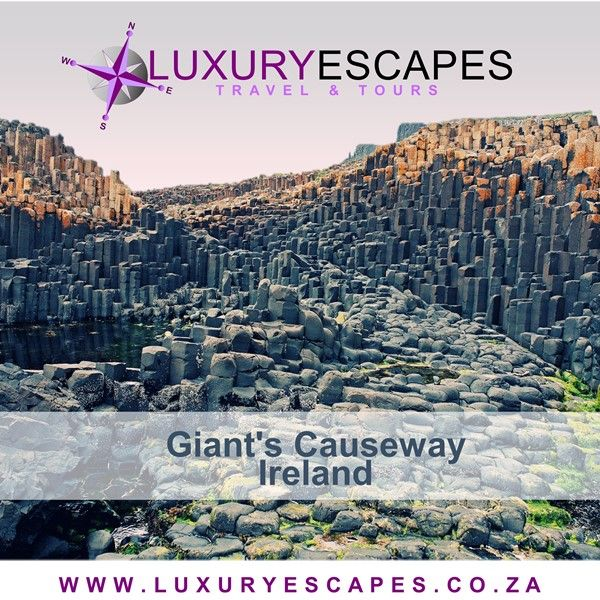 Today's #AmazingPlace is Giant's Causeway; unique interlocking basalt columns which was the result of an ancient volcanic eruption on the northeast coast of Northern Ireland. One of the greatest natural wonder in the United Kingdom as most of the columns are hexagonal and the tallest being about 12 metres. This is a must for any Northern Ireland itinerary. www.luxuryescapes.co.za