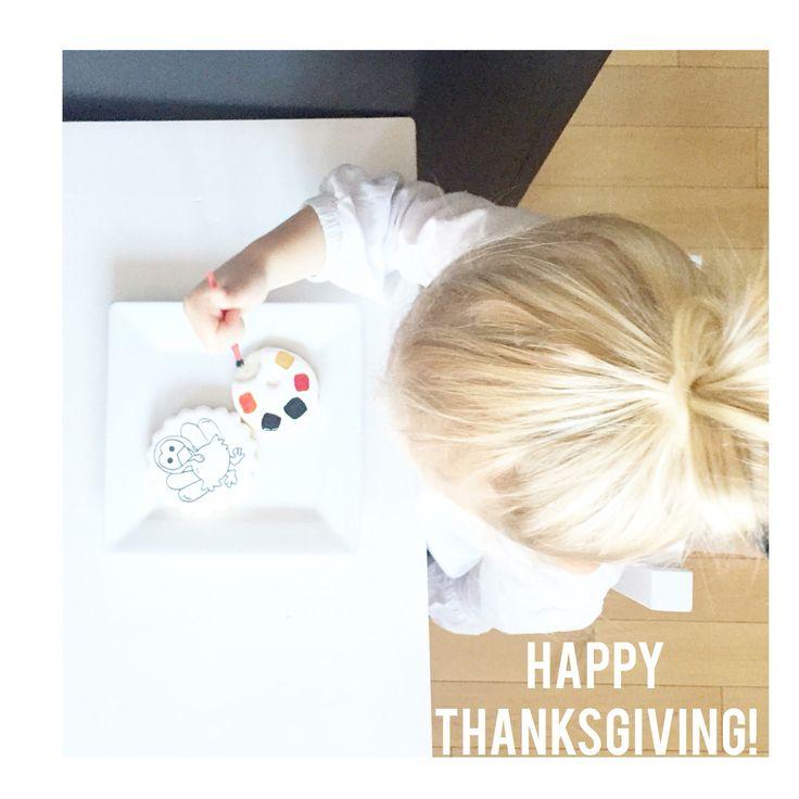 Custom Kids ThanksGiving ColourMe Cookies @sugarlovecookiesdesigns FB sugar love cookie designs