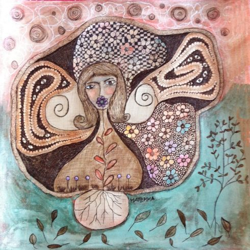 toile 2010, Frances Matemma Dallocchio, autodidacte née en 1961