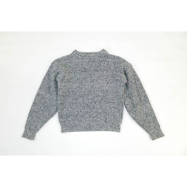 Vintage 1980s Black and White Static Sweater Small (65 CAD) ❤ liked on Polyvore featuring tops, sweaters, jumpers, black white sweater, black and white jumper, 80s tops, black and white sweater and white and black sweater