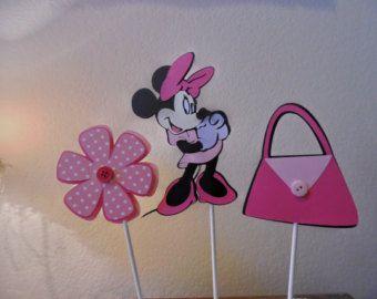 Centro de mesa de Minnie Mouse conjunto de por DellaEvents en Etsy