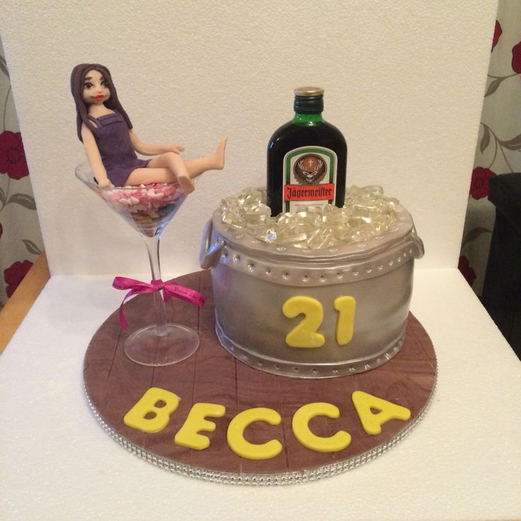 21st Birthday Cake with Jaegermeister