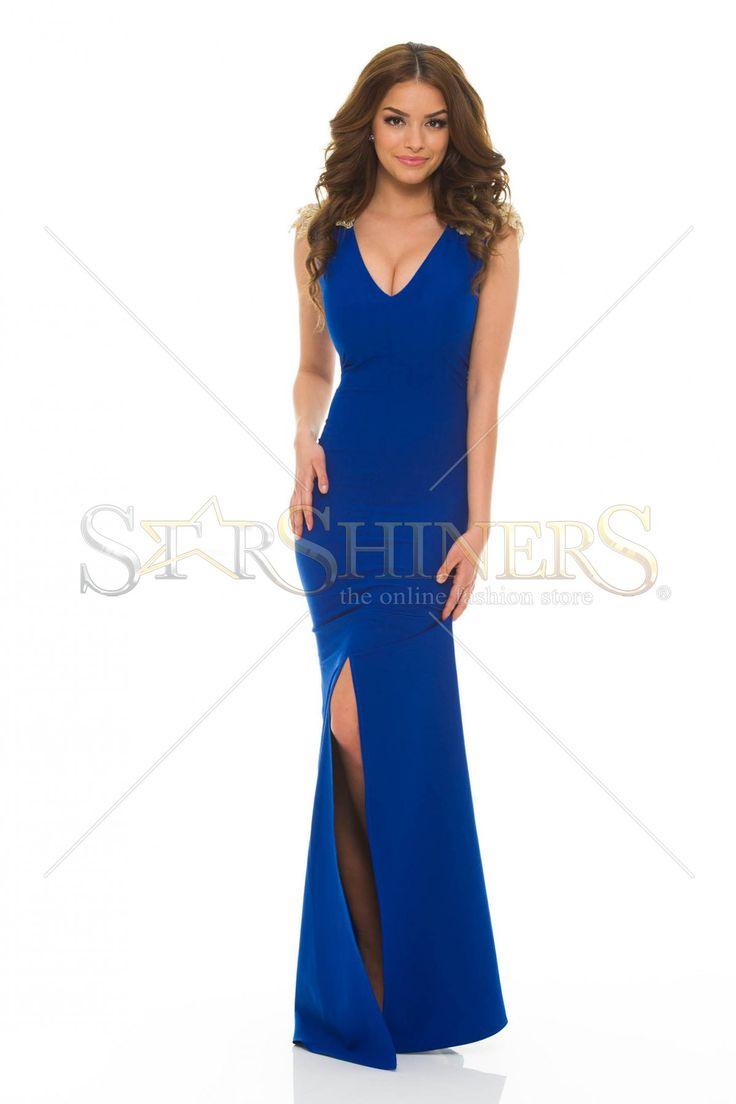LaDonna Classy Shoulders DarkBlue Dress