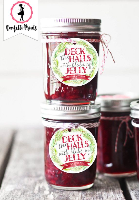 Christmas Jam Label | Jam Jar Label | Mason Jar Label | Christmas Gift Tag