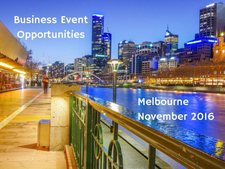 Find the best business event opportunities in Melbourne at: http://www.bizevents.info/melbourne #Melbourne #Australia #events #event #eventprofs #business #networking #ausbiz #entrepreneur #smallbiz #sme #growth #success #assnchat