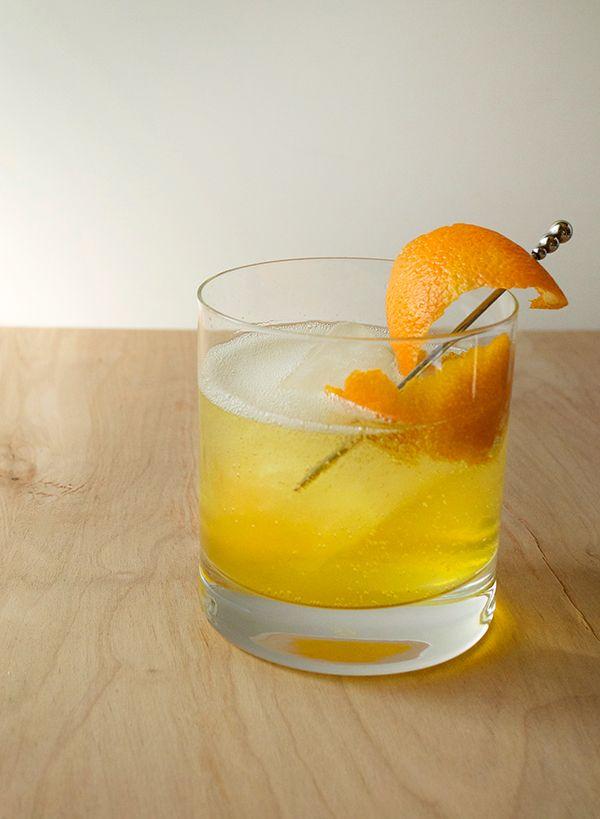 The Southall Tonic - Dry Gin, Turmeric Syrup (Recipe), Lapsang Souchong Tea Tincture (Recipe), Tonic Water, Orange Flower Water, Orange Peel Garnish.