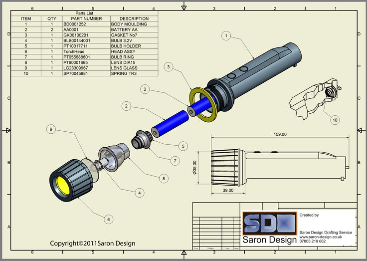 Torch Exploded Drawing Exploded Assembly Of Torch Model