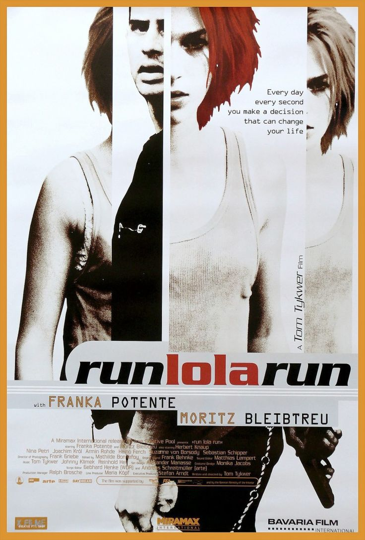 17 best images about movie posters a clockwork film run lola run premiered 18 1999 just watched this in film class