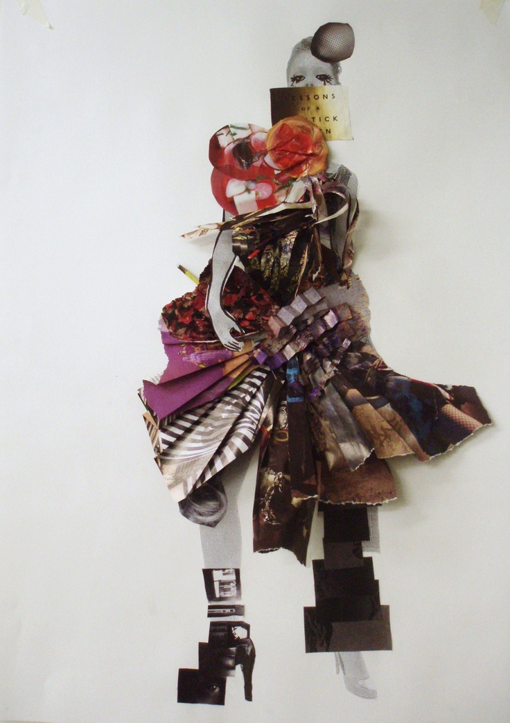 Fashion collage, Central Saint Martins © 2008 Sandra Gustafsson