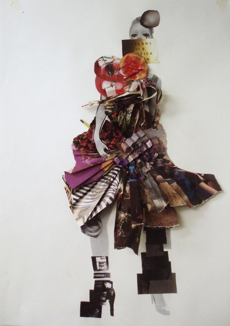 Fashion collage, Central Saint Martins © 2008 Sandra Gustafsson