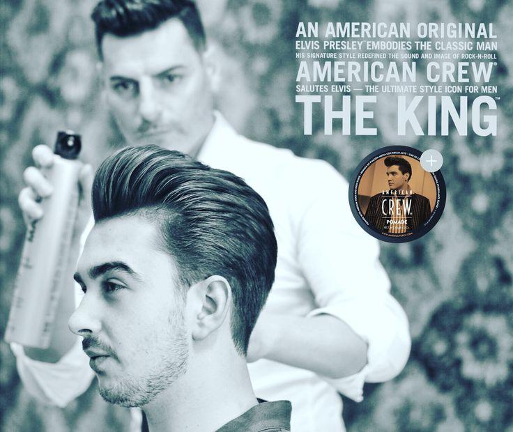 Hasta Elvis Presley estaría encantado con este corte de pelo. American crew & Abel Pleguezuelos Barber Shop   C/Capitan Antonio Mena n•71  Telf citas: 96 6630393 ELCHE (ALICANTE)